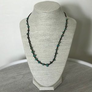 Jewelry - Turquoise Brown Bead Necklace